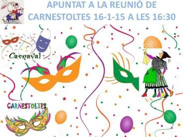 APUNTAT A LA REUNIÓ DE CARNESTOLTES 16-1-15 A