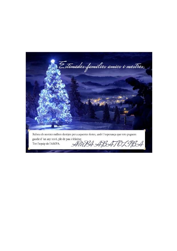 Bon Nadal i Feliç any 2016